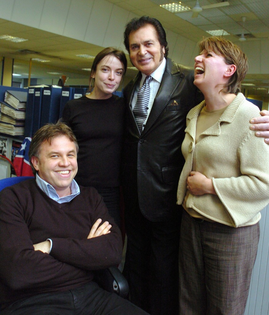 Leicester singer Engelbert with some of the Leicester Mercury feature writers, Lee Marlow, Catherine Turnell and Sarah Staples.