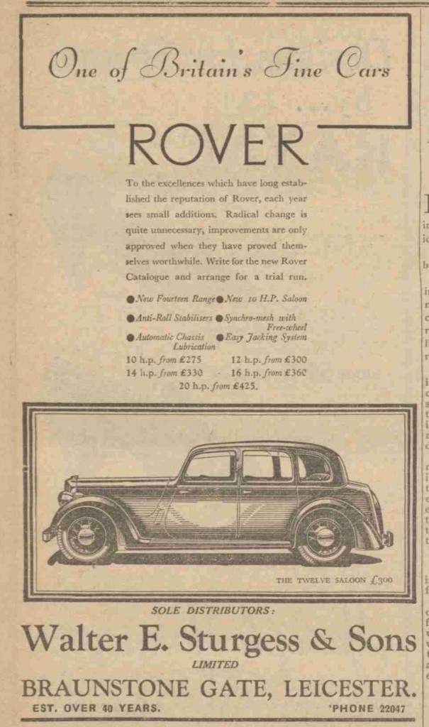 Sturgess Rover ad 1939-page-001